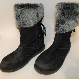 Rampage Black Fluff Boots size 8M